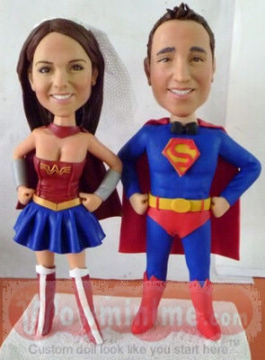 Superman themed cake toppers BW74